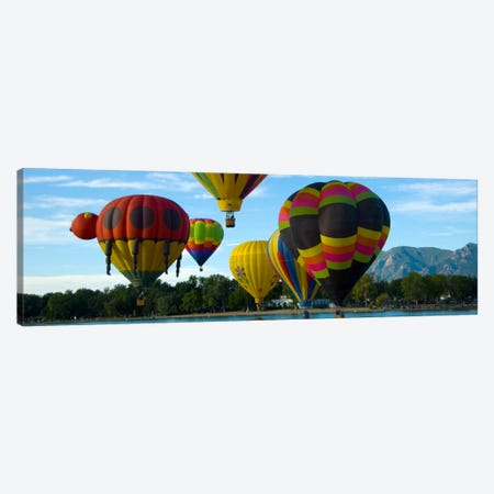 Colorado Springs Panoramic Skyline Cityscape (Air Baloon Competiton) 3-Piece Canvas #6013} by Unknown Artist Canvas Art