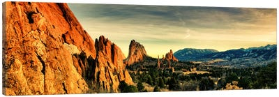 Colorado Springs Panoramic Skyline Cityscape Canvas Print #6014