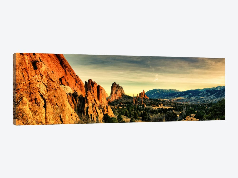 Colorado Springs Panoramic Skyline Cityscape by Unknown Artist 1-piece Canvas Print