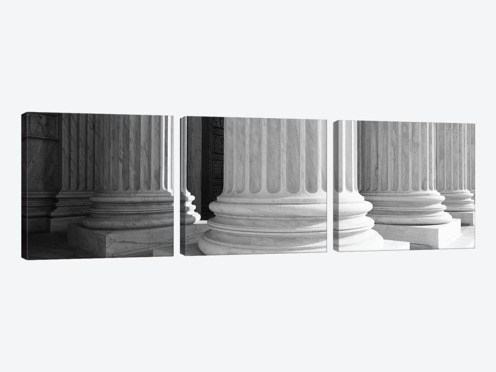 Columns Achitecture (Black & White) 3-piece Canvas Art Print