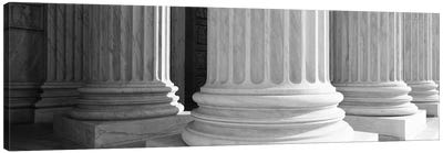 Columns Achitecture (Black & White) Canvas Art Print