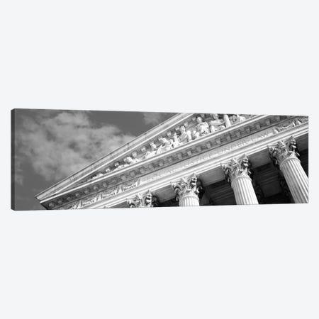 Columns Building Black & White Canvas Print #6018} by Unknown Artist Canvas Art