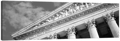 Columns Building Black & White Canvas Art Print