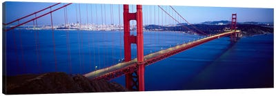 San Francisco Panoramic Skyline Cityscape (Golden Gate Bridge) Canvas Print #6019