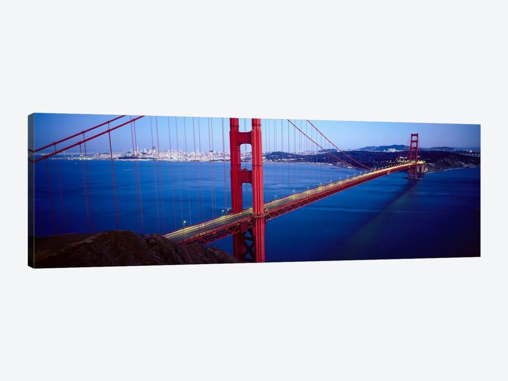 San Francisco Panoramic Skyline Cityscape (Golden Gate Bridge) by Unknown Artist 1-piece Canvas Art