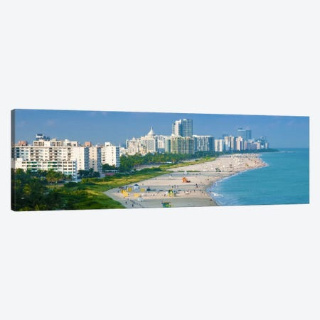 Miami Panoramic Skyline Cityscape Canvas Print #6020} by Unknown Artist Canvas Art Print