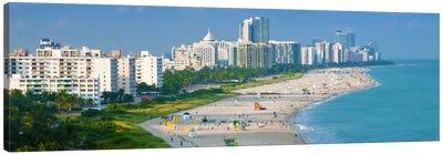 Miami Panoramic Skyline Cityscape Canvas Art Print
