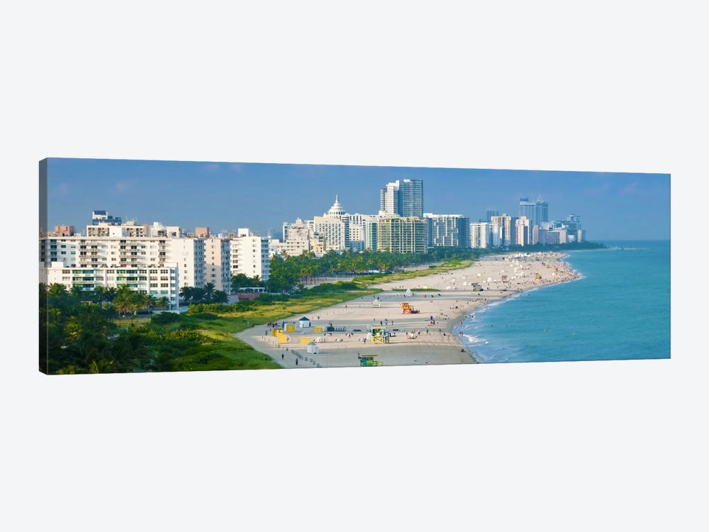 Miami Panoramic Skyline Cityscape 1-piece Canvas Wall Art
