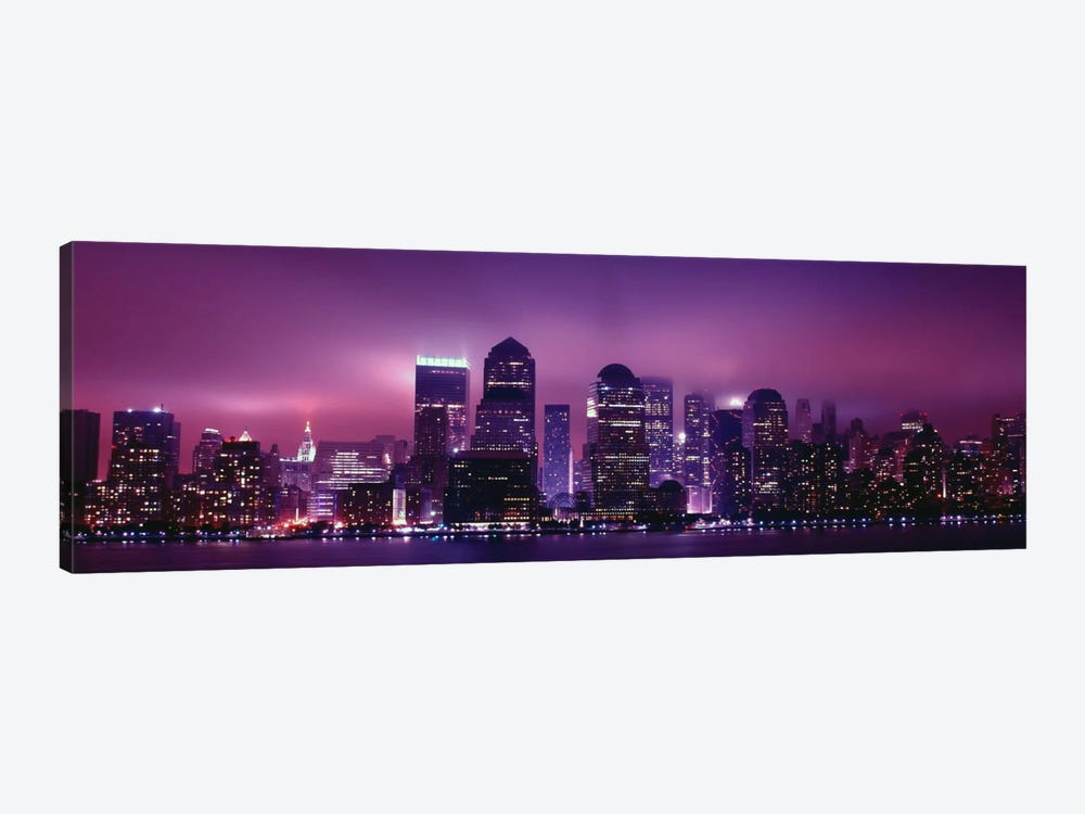 New York Panoramic Skyline Cityscape (Night View) by Unknown Artist 1-piece Canvas Art Print
