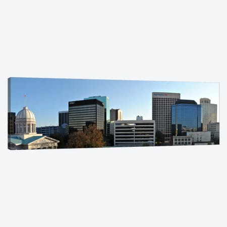 Norfolk Panoramic Skyline Cityscape Canvas Print #6022} Canvas Print