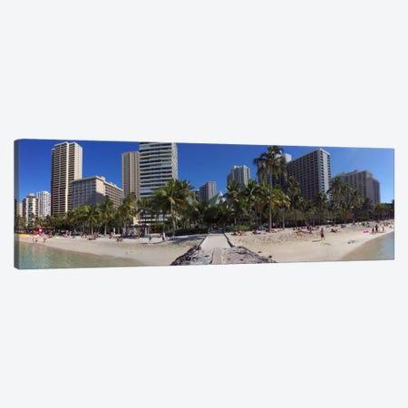 Honolulu Panoramic Skyline Cityscape (Beach) Canvas Print #6028} by Unknown Artist Art Print