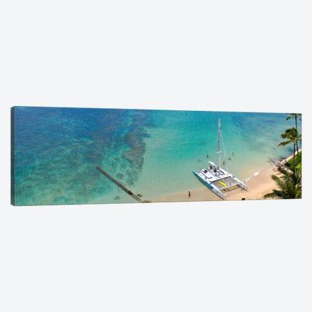 Honolulu Panoramic Skyline Cityscape (Ocean) Canvas Print #6029} by Unknown Artist Art Print