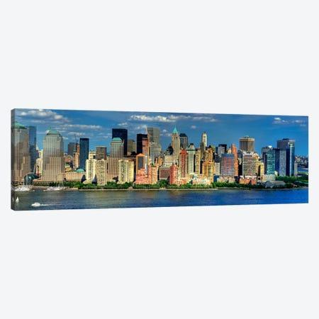 New York Panoramic Skyline Cityscape (Manhattan) Canvas Print #6032} by Unknown Artist Canvas Wall Art