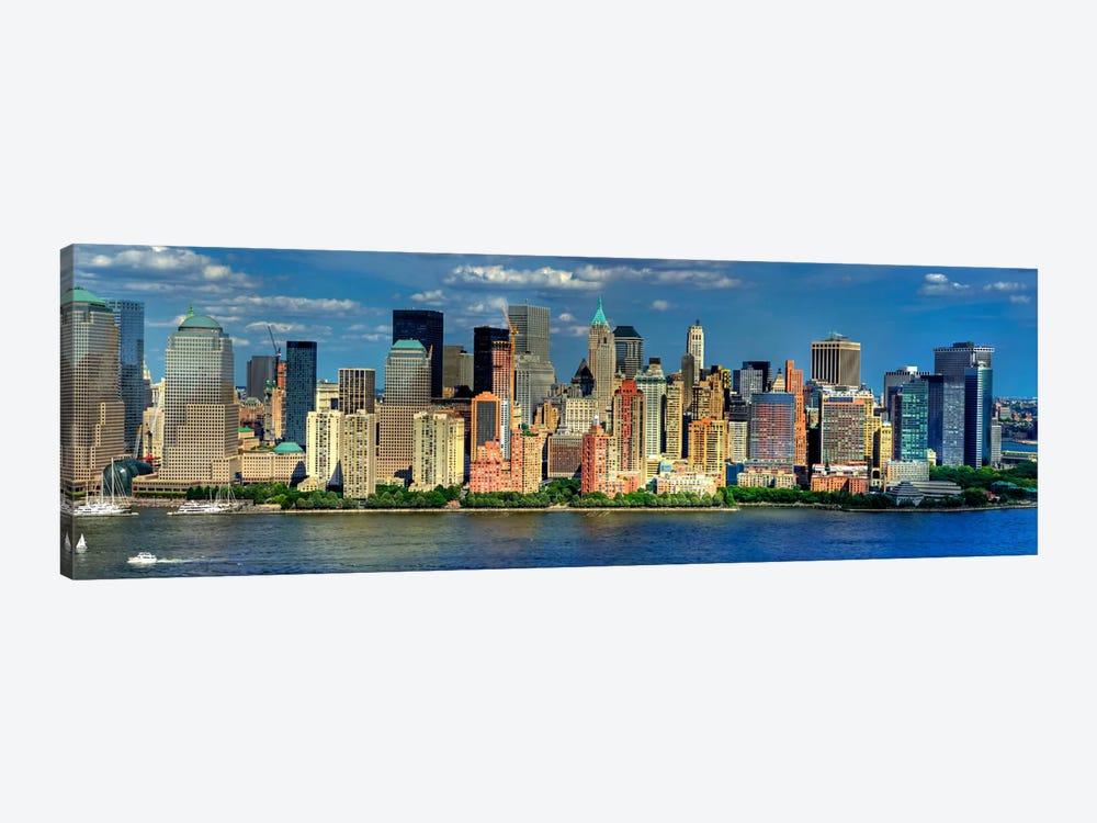 New York Panoramic Skyline Cityscape (Manhattan) by Unknown Artist 1-piece Art Print