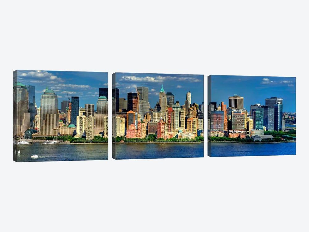 New York Panoramic Skyline Cityscape (Manhattan) by Unknown Artist 3-piece Art Print