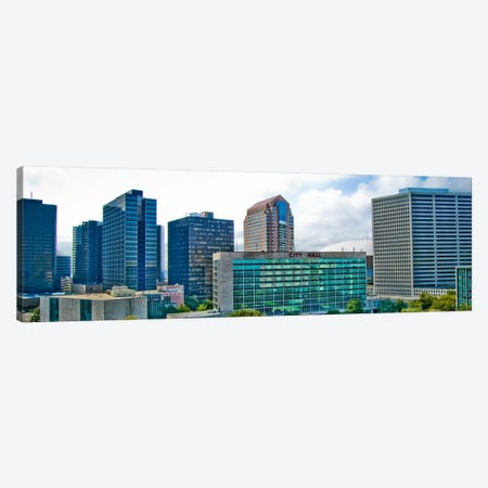 Nola Panoramic Skyline Cityscape (Day) Canvas Print #6033} by Unknown Artist Canvas Wall Art