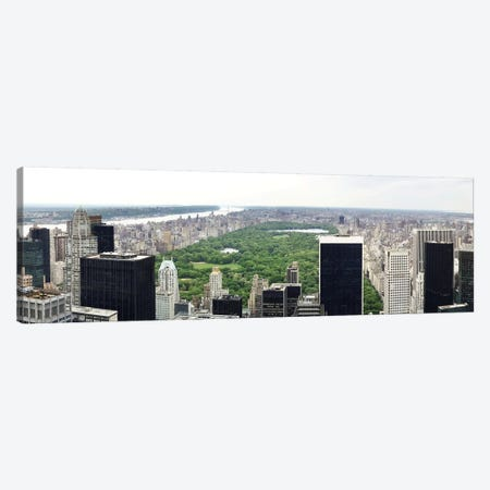 New York Panoramic Skyline Cityscape (Manhattan - Central Park) Canvas Print #6034} by Unknown Artist Canvas Print