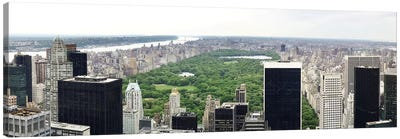 New York Panoramic Skyline Cityscape (Manhattan - Central Park) Canvas Print #6034
