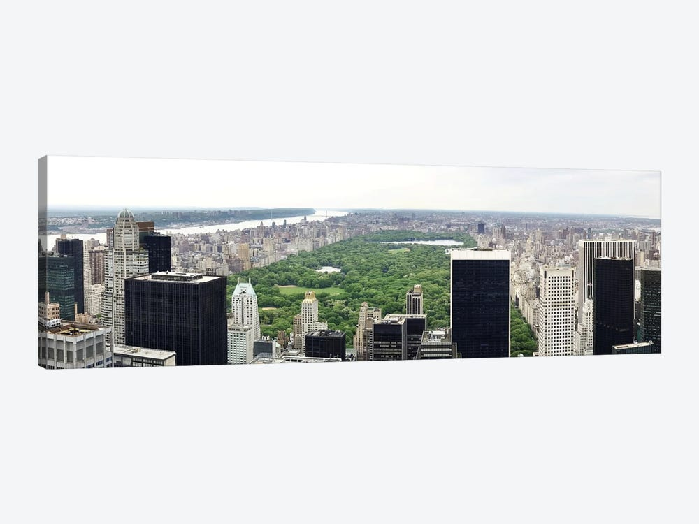 New York Panoramic Skyline Cityscape (Manhattan - Central Park) by Unknown Artist 1-piece Art Print