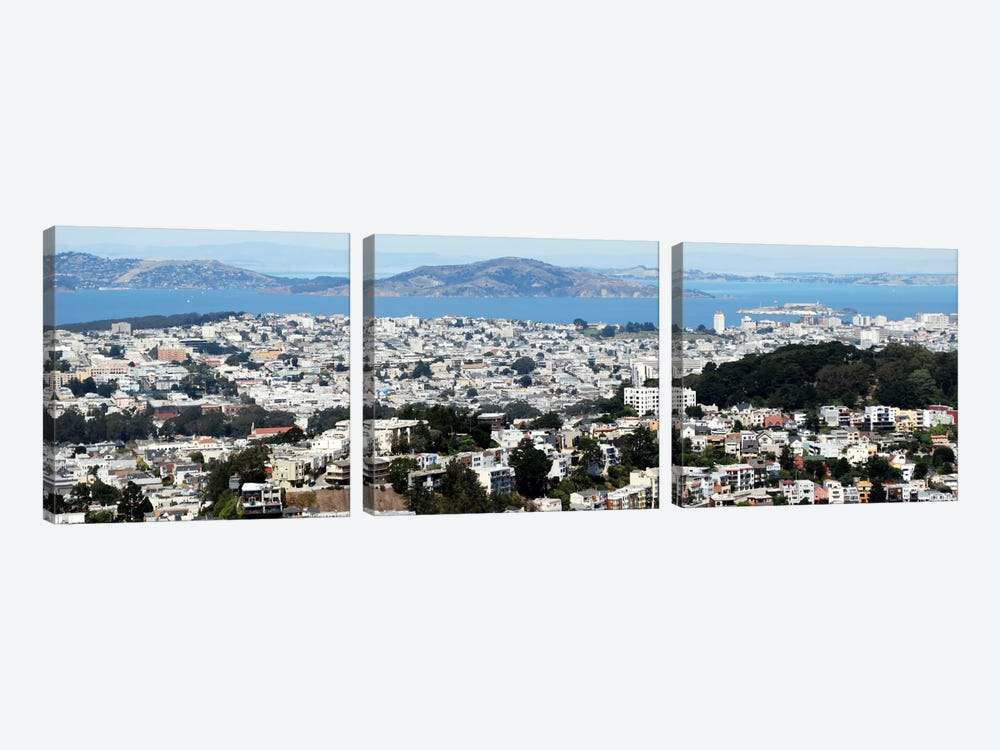 San Francisco Panoramic Skyline Cityscape by Unknown Artist 3-piece Canvas Artwork