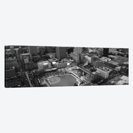 Memphis Panoramic Skyline Cityscape (Black & White) Canvas Print #6043} by Unknown Artist Canvas Art Print