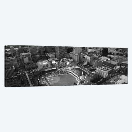Memphis Panoramic Skyline Cityscape (Black & White) Canvas Print #6043} by Unknown Artist Canvas Art Print