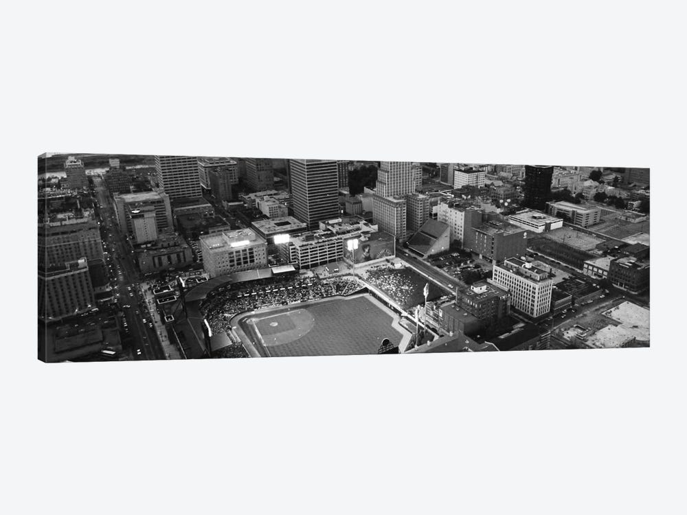 Memphis Panoramic Skyline Cityscape (Black & White) by Unknown Artist 1-piece Canvas Print