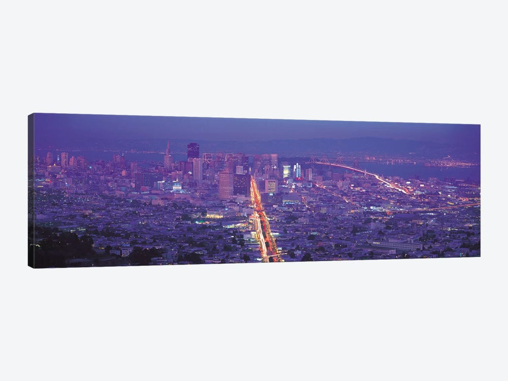 San Francisco Panoramic Skyline Cityscape (Sunset) by Unknown Artist 1-piece Canvas Print