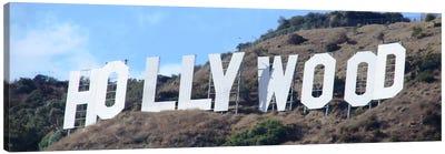 Hollywood Panoramic Skyline Cityscape (Sign) Canvas Art Print