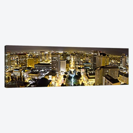 San Jose Panoramic Skyline Cityscape (Night View) Canvas Print #6055} by Unknown Artist Canvas Print