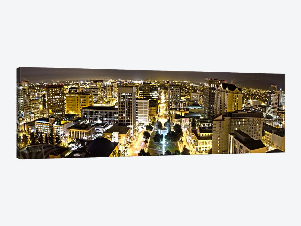 San Jose Panoramic Skyline Cityscape (Night View) by Unknown Artist 1-piece Canvas Wall Art