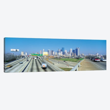 Houston Panoramic Skyline Cityscape Canvas Print #6057} Art Print