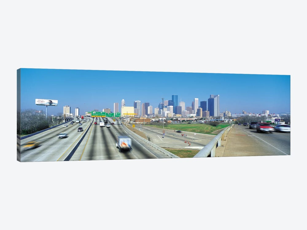 Houston Panoramic Skyline Cityscape 1-piece Canvas Art