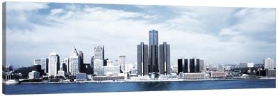 Detroit Panoramic Skyline Cityscape Canvas Art Print