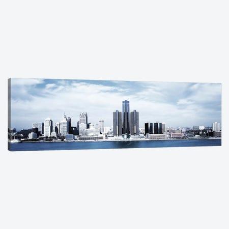 Detroit Panoramic Skyline Cityscape Canvas Print #6061} by Unknown Artist Canvas Art Print