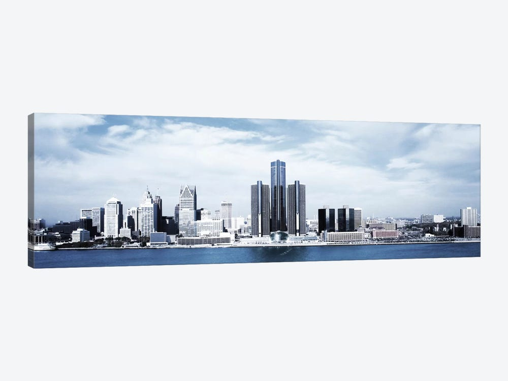 Detroit Panoramic Skyline Cityscape by Unknown Artist 1-piece Canvas Print