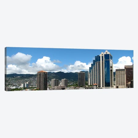 Honolulu Panoramic Skyline Cityscape Canvas Print #6062} Art Print