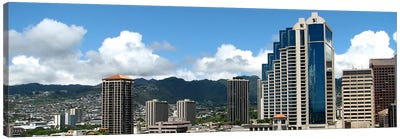 Honolulu Panoramic Skyline Cityscape Canvas Art Print
