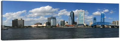 Jacksonville Panoramic Skyline Cityscape Canvas Art Print