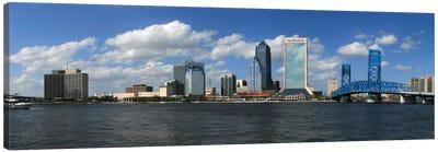 Jacksonville Panoramic Skyline Cityscape Canvas Print #6063
