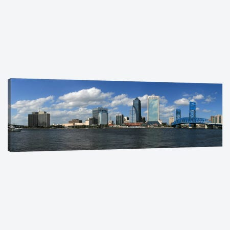 Jacksonville Panoramic Skyline Cityscape Canvas Print #6063} by Unknown Artist Canvas Print