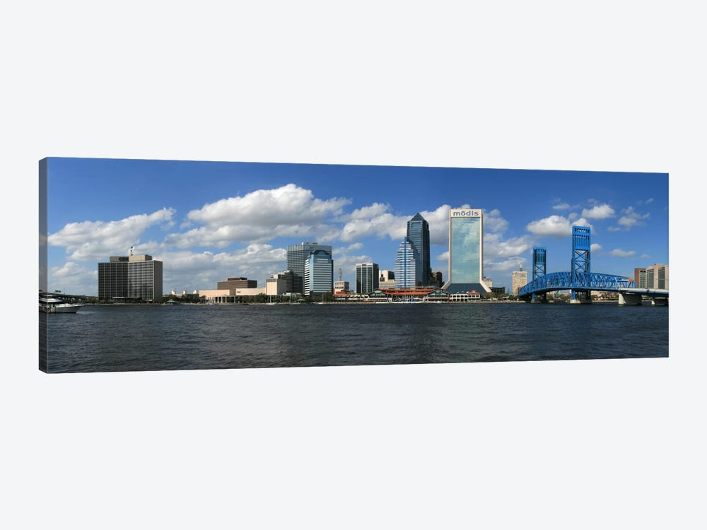 Jacksonville Panoramic Skyline Cityscape by Unknown Artist 1-piece Canvas Art Print
