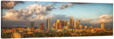 Los Angeles Panoramic Skyline Cityscape Canvas Art Print