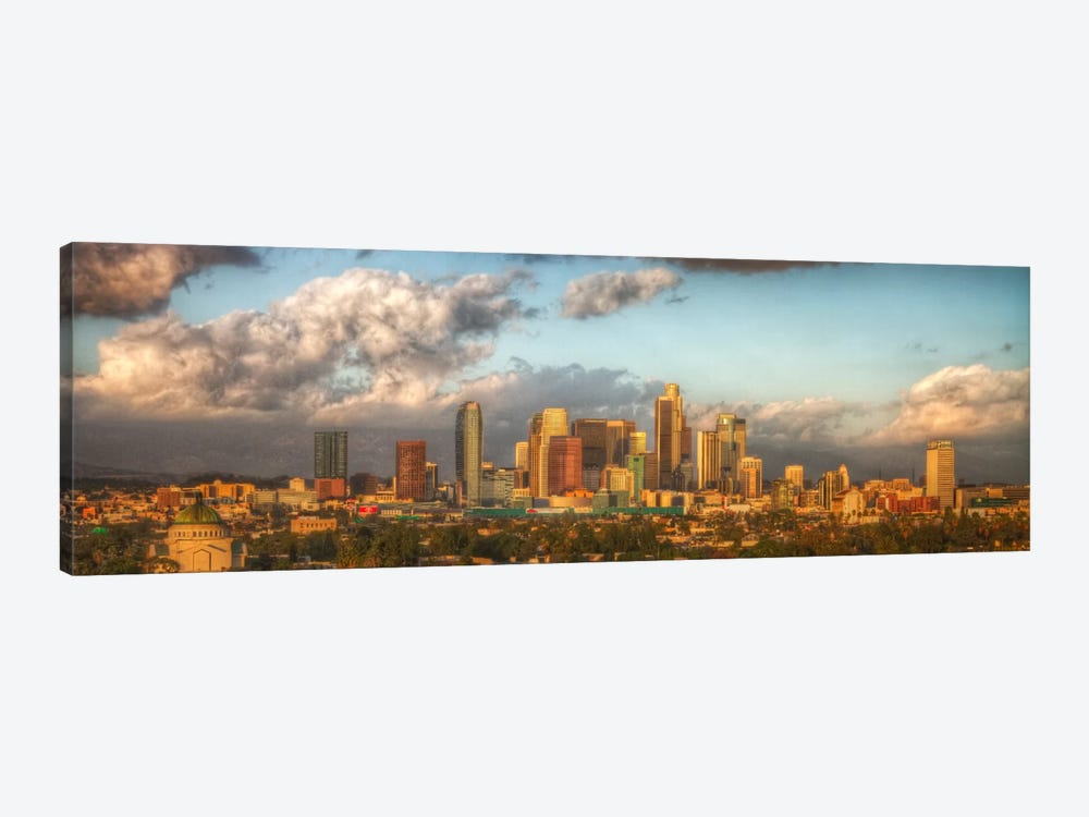 Los Angeles Panoramic Skyline Cityscape by Unknown Artist 1-piece Canvas Art Print