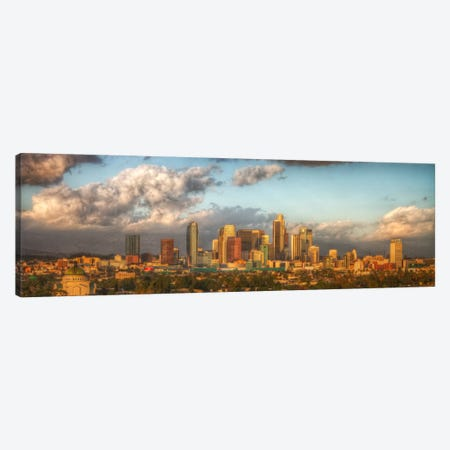 Los Angeles Panoramic Skyline Cityscape 3-Piece Canvas #6065} by Unknown Artist Canvas Artwork