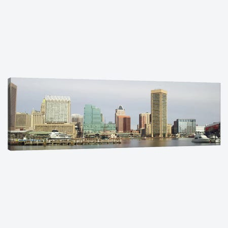 Baltimore Panoramic Skyline Cityscape Canvas Print #6066} by Unknown Artist Canvas Art