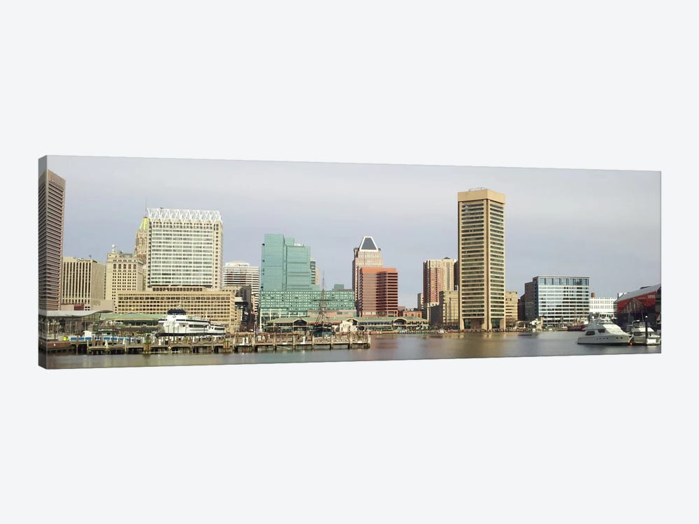 Baltimore Panoramic Skyline Cityscape by Unknown Artist 1-piece Canvas Wall Art