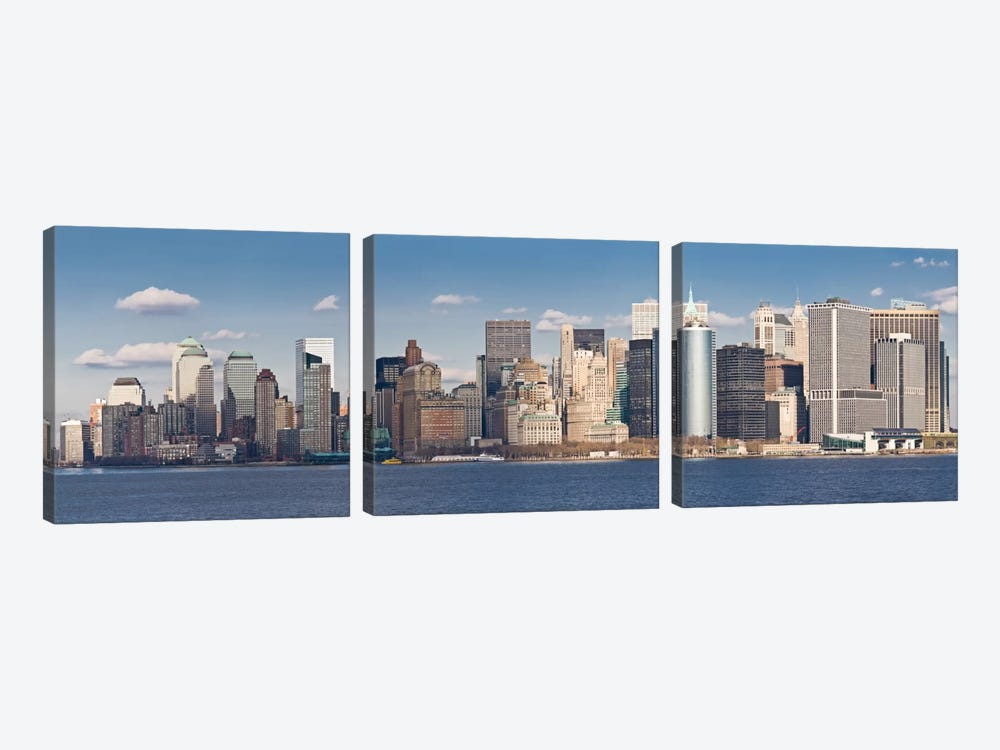 New York Panoramic Skyline Cityscape by Unknown Artist 3-piece Art Print