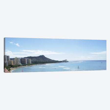 Honolulu Panoramic Skyline Cityscape Canvas Print #6073} Canvas Artwork