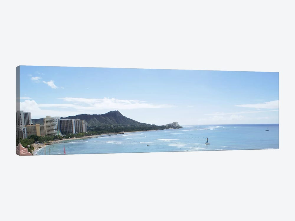 Honolulu Panoramic Skyline Cityscape 1-piece Canvas Wall Art